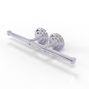 Que New Polished Chrome Four-Inch Double Roll Toilet Tissue Holder