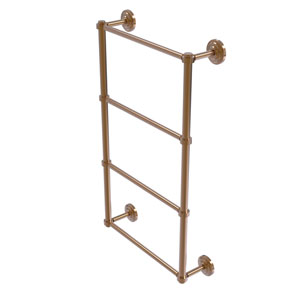 Que New Brushed Bronze 30-Inch Four-Tier Ladder Towel Bar