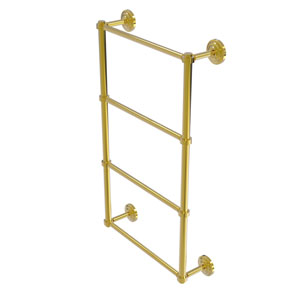Que New Polished Brass 30-Inch Four-Tier Ladder Towel Bar