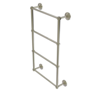 Que New Polished Nickel 30-Inch Four-Tier Ladder Towel Bar