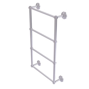 Que New Satin Chrome 30-Inch Four-Tier Ladder Towel Bar