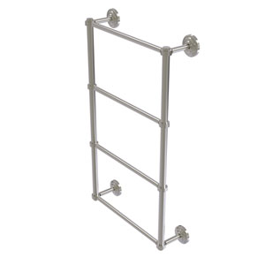 Que New Satin Nickel 36-Inch Four-Tier Ladder Towel Bar