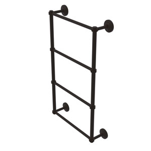 Que New Oil Rubbed Bronze 36-Inch Four Tier Ladder Towel Bar with Dotted Detail