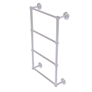 Que New Satin Chrome 36-Inch Four Tier Ladder Towel Bar with Dotted Detail