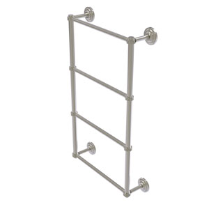 Que New Satin Nickel 36-Inch Four Tier Ladder Towel Bar with Dotted Detail