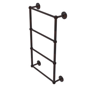 Que New Venetian Bronze 36-Inch Four Tier Ladder Towel Bar with Dotted Detail