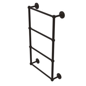 Que New Oil Rubbed Bronze 30-Inch Four Tier Ladder Towel Bar with Groovy Detail