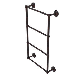 Que New Venetian Bronze 30-Inch Four Tier Ladder Towel Bar with Groovy Detail