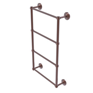Que New Antique Copper 36-Inch Four Tier Ladder Towel Bar with Groovy Detail
