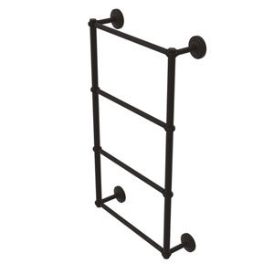 Que New Oil Rubbed Bronze 30-Inch Four-Tier Ladder Towel Bar with Twisted Detail