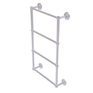 Que New Satin Chrome 30-Inch Four-Tier Ladder Towel Bar with Twisted Detail