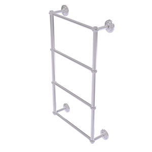 Que New Polished Chrome 36-Inch Four-Tier Ladder Towel Bar with Twisted Detail