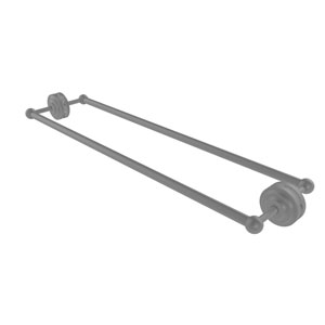 Que New Matte Gray 30-Inch Back to Back Shower Door Towel Bar