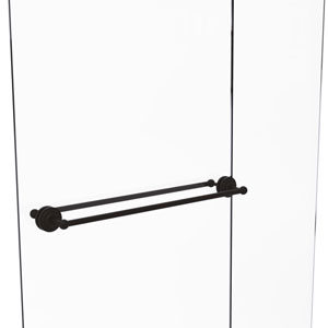 Que New Oil Rubbed Bronze 30-Inch Back to Back Shower Door Towel Bar