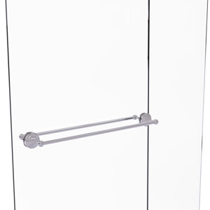 Que New Polished Chrome 30-Inch Back to Back Shower Door Towel Bar
