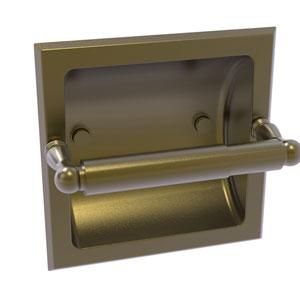 Regal Antique Brass Six-Inch Recessed Toilet Tissue Holder