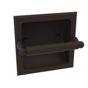 Regal Oil Rubbed Bronze Six-Inch Recessed Toilet Tissue Holder