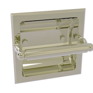 Regal Polished Nickel Six-Inch Recessed Toilet Tissue Holder