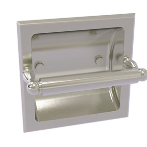 Regal Satin Nickel Six-Inch Recessed Toilet Tissue Holder