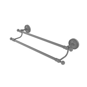 Regal Matte Gray 24-Inch Double Towel Bar