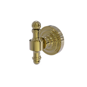 Retro Dot Unlacquered Brass Two-Inch Robe Hook