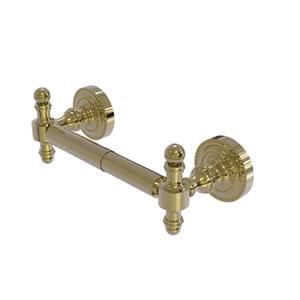 Retro Dot Unlacquered Brass Seven-Inch Two-Post Toilet Tissue Holder