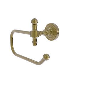 Retro Dot Unlacquered Brass Four-Inch Toilet Tissue Holder