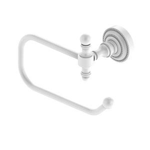 Retro Dot Matte White Four-Inch Toilet Tissue Holder