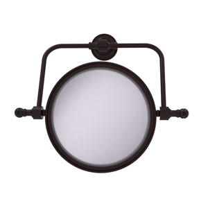 Retro Dot Antique Bronze Seven-Inch Wall Mounted Swivel Make-Up Mirror with 4X Magnification