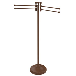 Retro Dot Antique Bronze 11-Inch Towel Stand with Four-Pivoting Swing Arms