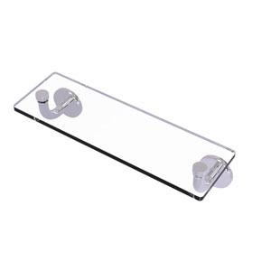 Remi Polished Chrome 16-Inch Glass Vanity Shelf with Beveled Edges