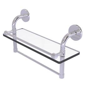 Remi Polished Chrome 16-Inch Glass Shelf with Towel Bar