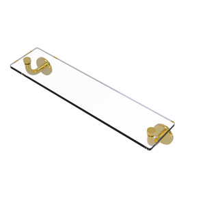 Remi Polished Brass 22-Inch Glass Vanity Shelf with Beveled Edges