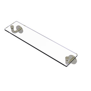Remi Polished Nickel 22-Inch Glass Vanity Shelf with Beveled Edges