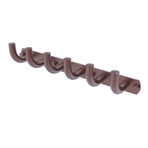 Remi Antique Copper Three-Inch Six-Position Tie and Belt Rack