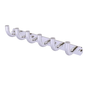 Remi Polished Chrome Three-Inch Six-Position Tie and Belt Rack