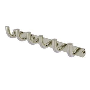 Remi Polished Nickel Three-Inch Six-Position Tie and Belt Rack