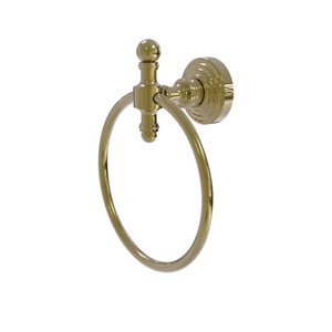 Retro Wave Unlacquered Brass Six-Inch Towel Ring