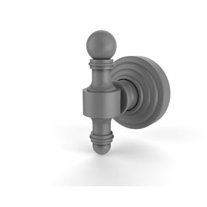 Retro Wave Matte Gray Two-Inch Robe Hook