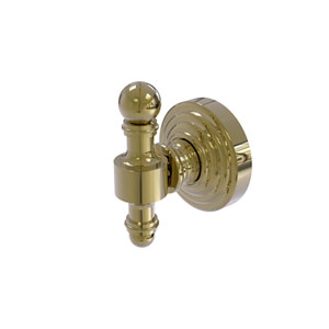 Retro Wave Unlacquered Brass Two-Inch Robe Hook
