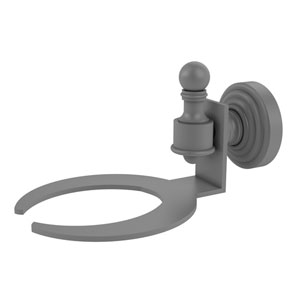 Retro Wave Matte Gray Four-Inch Wall Mounted Soap Dish
