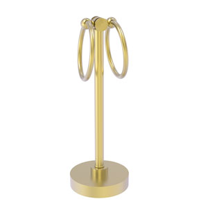Southbeach Satin Brass Five-Inch Vanity Top Two-Towel Ring Guest Towel Holder
