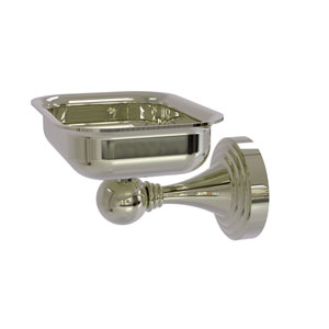 Sag Harbor Polished Nickel Four-Inch Wall Mounted Soap Dish
