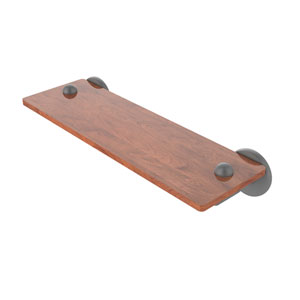 Soho Matte Gray 16-Inch Solid IPE Ironwood Shelf