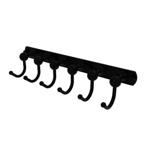 Shadwell Matte Black Four-Inch Six-Position Tie and Belt Rack