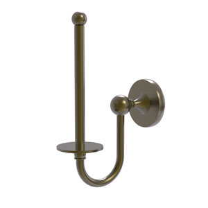 Shadwell Antique Brass Two-Inch Upright Toilet Tissue Holder