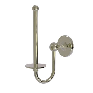 Shadwell Polished Nickel Two-Inch Upright Toilet Tissue Holder