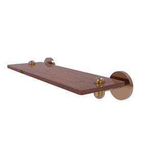 Tango Brushed Bronze 16-Inch Solid IPE Ironwood Shelf