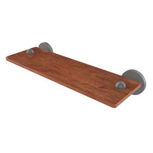 Tango Matte Gray 16-Inch Solid IPE Ironwood Shelf