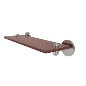Tango Satin Nickel 16-Inch Solid IPE Ironwood Shelf